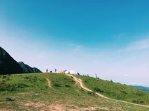 Hong Kong mountain. Take the photo in Hong Kong on 16 th Apr 2017 Royalty Free Stock Photos