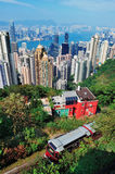 Hong Kong mountain top view Royalty Free Stock Photos