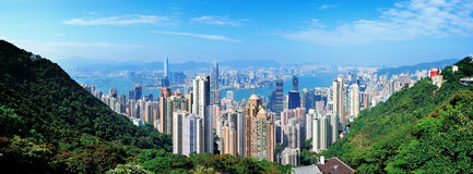 Hong Kong mountain top view Stock Photos