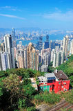 Hong Kong mountain top view. Urban architecture in Hong Kong in the day viewed from mountain top Royalty Free Stock Photo