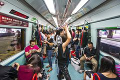 Hong Kong MTR Stockbilder