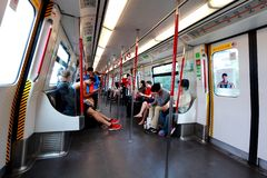 Hong Kong MTR above ground Royalty Free Stock Image