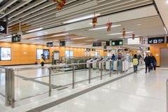 Hong Kong MTR Lei Tung Station imágenes de archivo libres de regalías