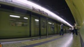 Hong Kong MTR plattformtimelapse stock video