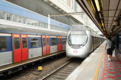 Hong Kong MTR station royalty free stock image