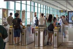 Hong Kong MTR Station Royalty Free Stock Photography