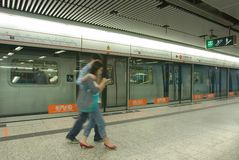 Hong Kong mtrgångtunnel arkivbilder