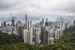 Hong Kong on murky day Royalty Free Stock Photography