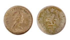 Hong Kong mynt Arkivfoton