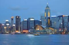 Hong Kong na noite Fotos de Stock Royalty Free