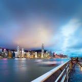 Hong Kong-Nacht Lizenzfreie Stockbilder