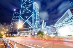 Hong Kong-Nachtansicht Stockfoto