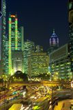 Hong Kong nachts Stockbild