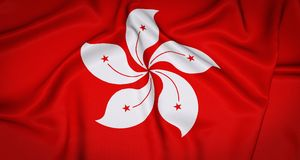 Hong Kong National Flag Background Immagine Stock