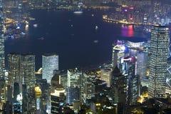 Hong Kong natt Arkivbilder