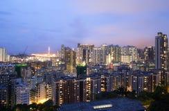Hong Kong natt Arkivfoton