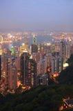 Hong Kong natt Royaltyfria Foton