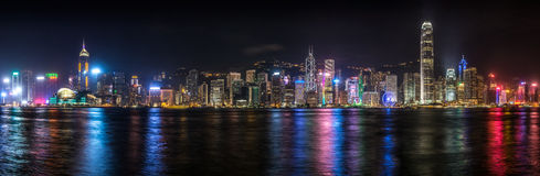 Hong Kong natt Royaltyfria Bilder