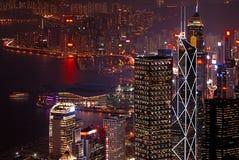 Hong Kong natt Royaltyfri Bild