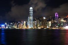 Hong Kong nattplats Royaltyfri Foto
