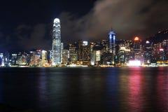 Hong Kong nattplats Arkivbild