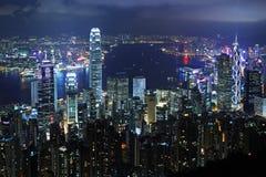 Hong Kong nattplats Fotografering för Bildbyråer