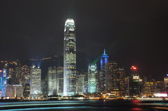 Hong Kong nattsikt Arkivfoton