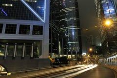 Hong Kong nattsikt Arkivfoto