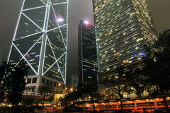 Hong Kong nattsikt Royaltyfria Foton