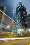 Hong Kong natttrafik Arkivfoto