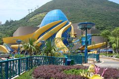 Hong Kong Natural scenery on the outskirts of the oceanic park and panorama of underwater life. royalty free stock photography