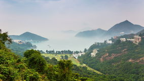 Hong Kong nature. Timelapse with moving clouds stock video footage