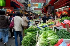 Hong Kong: Nelson Road Outdoor Market Stock Photography
