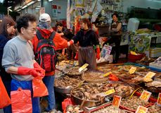 Hong Kong: Nelson Road Seafood Market Stock Photography