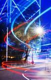Hong Kong Neon Lights Building-Geschäft Disctric-Konzept Lizenzfreies Stockbild