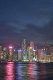 Hong Kong Neonowy światło Zdjęcia Stock