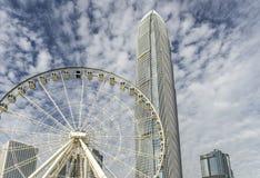 Hong Kong. New ferris wheel in Hong Kong Stock Photography