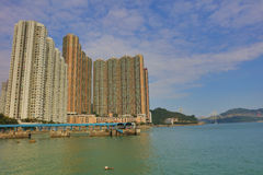 Hong Kong new housing at SHAM TSENG Royalty Free Stock Photography