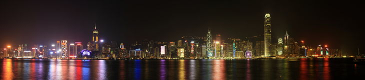 Hong Kong 2015 New Year Eve Stock Photo