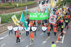 Hong Kong New year marches 2014 Stock Images