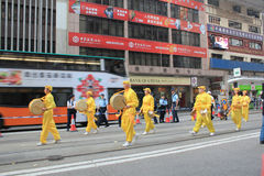 Hong Kong New year marches 2014 Stock Photos