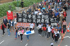 2014 Hong Kong new year marches Stock Images