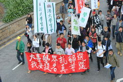 2014 Hong Kong new year marches Stock Photo