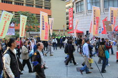 2014 Hong Kong new year marches Royalty Free Stock Image
