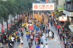 2014 Hong Kong new year marches Royalty Free Stock Photography