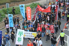 2014 Hong Kong New year marches Stock Photography