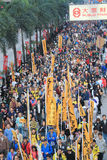 2012 Hong Kong new year marches Royalty Free Stock Photo
