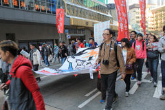 2014 Hong Kong new year marches Royalty Free Stock Images