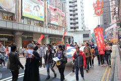 2014 Hong Kong new year marches Royalty Free Stock Photo