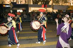 Hong Kong - New Year parade Royalty Free Stock Photography